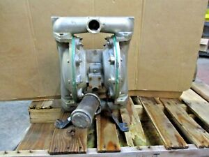 Aro Ingersoll rand 1 1 2 Stainless Diaphragm Pump 1230930j Used
