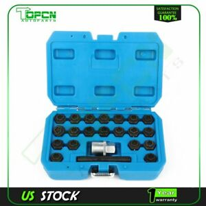 22pc Bmw Anti theft Special Wheel Locking Bolt Nut Removal Socket Master Key Kit