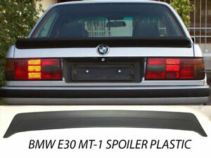 Fits Bmw E30 85 91 Mt1 M Tech 1 Style Trunk Spoiler Abs Unpaint