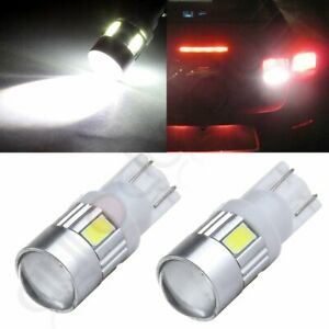 2x Cree High Power White 921 168 T10 15 Led License Light Projector Bulb 6000k