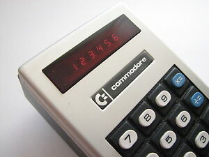 New In Box Vintage 1973 Nos Commodore Minuteman Mini Red led Basic Calculator