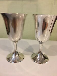 Pair Of Gorham Sterling Silver 272 Wine Goblets