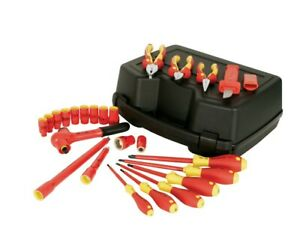 Wiha Tools 31592 3 8 Drive 1000v Insulated 24 Piece Metric Set New 820 Retail