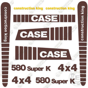Case 580 Super K Decal Kit Backhoe Replacement Sticker Set 7 Year Vinyl