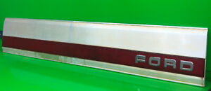 87 96 Ford F 150 Pickup Truck Tailgate Trim Panel Aluminum Red 250 350 Oem
