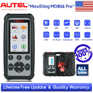 Autel Md806 Pro All System Obd2 Auto Code Reader Scanner Abs Srs Sas Bms Epb Dpf