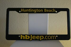 Jeep Huntington Beach California Dealership License Plate Frame Plastic New