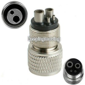 Dental High Speed Handpiece Turbine Adapter Hole 4 To 2 Hole Changer Coupler