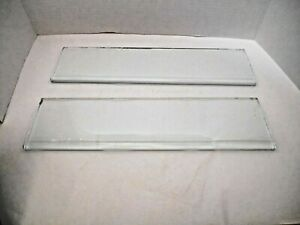 2 Heavy Thick Curved Front Medicine Cabinet Glass Replacement Shelves 15 1 4