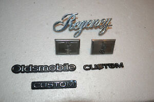 Oldsmobile Brougham Regency Custom Emblems Decals Badges Oem Pillar