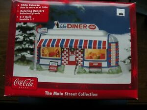 Coca-Cola Main Street Collection 2006 Ed's Diner village piece rotating dancers