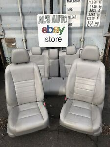 15 17 Toyota Camry Seats Gray Leather Power Full Set Oem