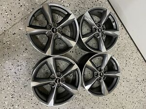 2015 2019 Ford Mustang 18 Wheels Dark Grey W Machined Face Oem