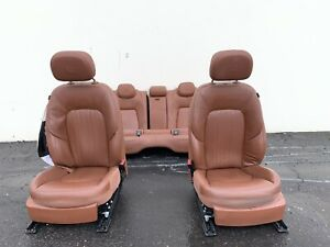 2015 Maserati Ghibli Complete Cuoio Front And Rear Seats Assembly Used Note
