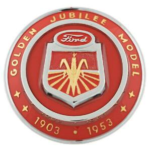 1953 Hood Emblem For Ford Tractor Golden Jubilee Naa16600a