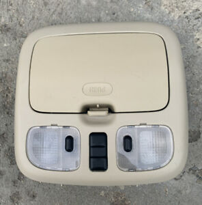 2001 2012 Ford Escape Dome Light Overhead Console W Sunroof Switch Oem Beige 3