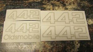 1985 87 Oldsmobile 442 4 Piece Gold Decal Set