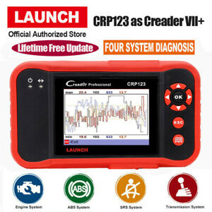 Launch Obd2 Scanner Crp123 Engine Abs Srs Transmission Diagnostic Scan Tool