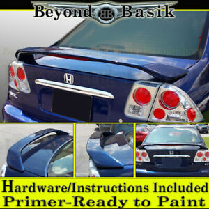 2001 2002 2003 2004 2005 Honda Civic 4dr Factory Style Trunk Spoiler Wing Primer