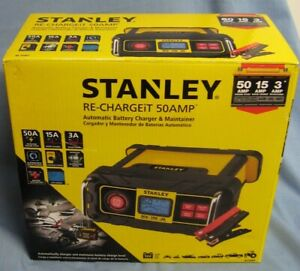 Stanley 15 Amp Battery Charger With 50 Amp Engine Start Bc50bs New