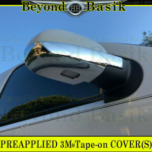2007 08 09 10 11 12 2013 Chevy Silverado Lower Chrome Mirror Covers Overlays