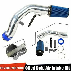 For 2003 2007 Ford 6 0l Powerstroke Diesel 6 0l Oiled Cold Air Intake Kit Sliver