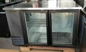 True 2 Glass Door Back Bar Cooler Tbb 2g