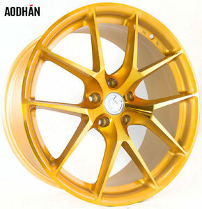 Aodhan Ls007 20x9 30 20x10 5 35 5x112 Gold Machined Face Staggered Set Of 4