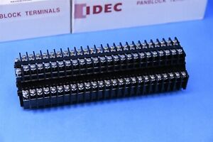 25 Idec Terminal Block Connector 4 Position Feed Through Bndh15w 10a 600v 14 22