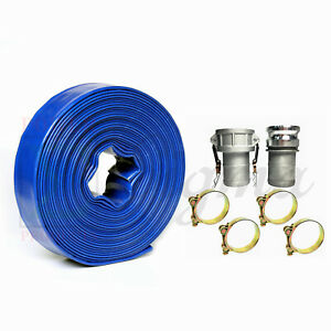 Sigma 3 In X 50 Feet Agricultural Pvc Lay Flat Discharge Pump Hose Camlock
