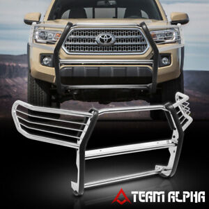Fits 2016 2019 Tacoma Chrome Stainless Steel 1 5 bumper Grille brush Guard grill