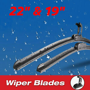 22 19 Windshield Wiper Blades Oem Quality Beam Premium Hybrid Silicone J hook