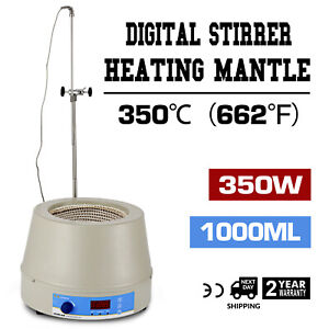 1000ml Electric Digital Lcd Magnetic Stirring Heating Mantle Continuous