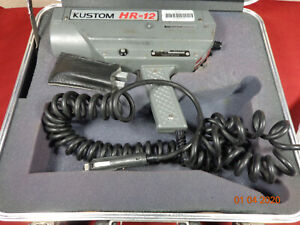 Kustom Hr 12 Hr12 Pistol Grip Radar Gun Speed Detector W case key Tunuing Fork