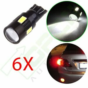 6x Cree White 921 158 194 T10 Projector Bulb Led High Power Parking Light 6000k