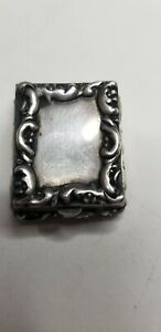 Antique Art Nouveau Sterling Silver Stamp Box 711