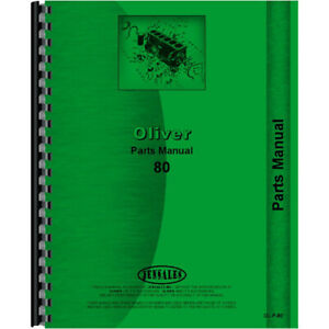 New Tractor Parts Manual For Oliver 80