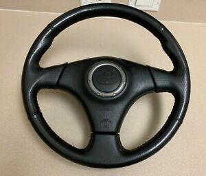 Toyota Corolla S Celica Supra Mr2 Black Leather Oem 3 Spoke Steering Wheel