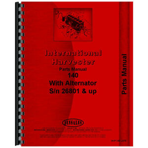 Tractor Chassis Parts Manual For International Harvester 140
