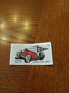 Genuine Eelco Fuel Tank Decal Gasser Fit Moon New Official Reproduction