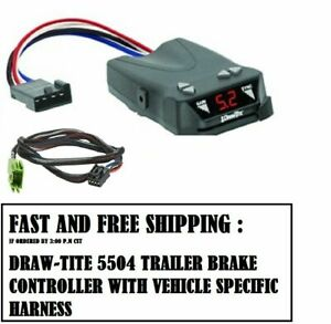 5504 Draw Tite Brake Control With Wiring Harness 3021 For 2010 2012 Dodge Ram