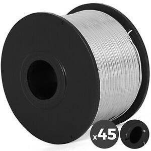 0 8mm Tie Wire 45 Coils Durable Pack Rebar Tier 360ft Hard Wire