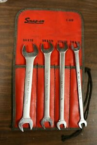 Snap On 4pc Low Torque Wrench Set 7 16 1 2 9 16 5 8 11 16 3 4 7 8 Free Shipping