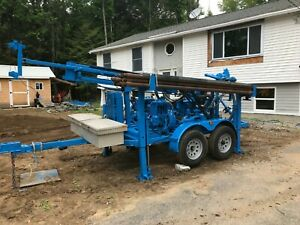 Used Deeprock Dr100 Tandem Axel Trailer Mounted Drilling