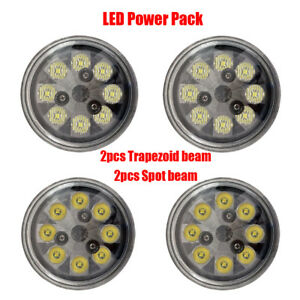 Pack 2 Spot Bulb 2 Trapezoid Beam Led Taxi Recognition Bulb Light For Tractor