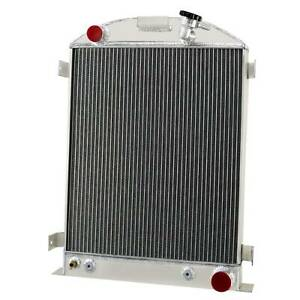 3 Row Aluminum Radiator Fits 1933 1934 Ford Grill Shells Chevy V8 Engine