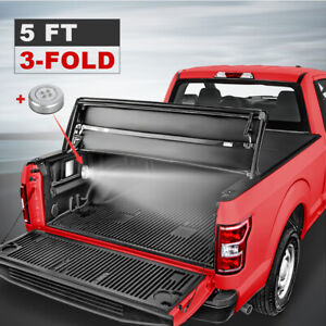 Set 5 Feet 3 Fold Tonneau Cover Truck Bed For 2019 2020 Ford Ranger Pickup Truck