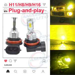2020 New H11 H8 H9 Led Headlights Bulbs Professional Kit 35w 3000lm 3000k Yellow
