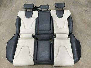 Oem 2010 2012 Audi B8 Rear Seats In Black And White Leather Backrest And Bench