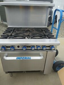 Imperial Ir 6 c 36 6 Burner Gas Range W Convection Oven Natural Gas